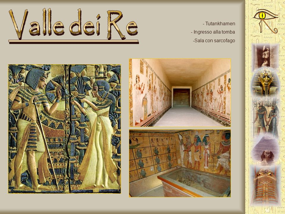 Valle dei Re Tutankhamen Ingresso alla tomba Sala con sarcofago