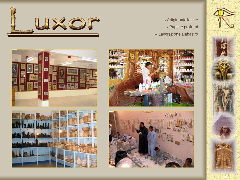 Luxor Artigianato locale Papiri e profumi - Lavorazione alabastro