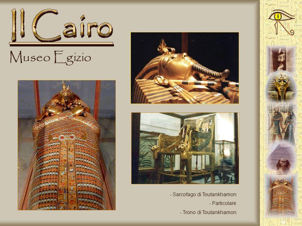 Il Cairo Museo Egizio Sarcofago di Toutankhamon Particolare