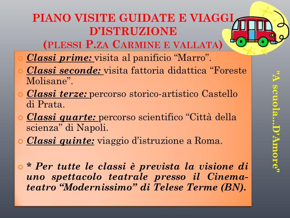 PIANO VISITE GUIDATE E VIAGGI D'ISTRUZIONE (plessi P