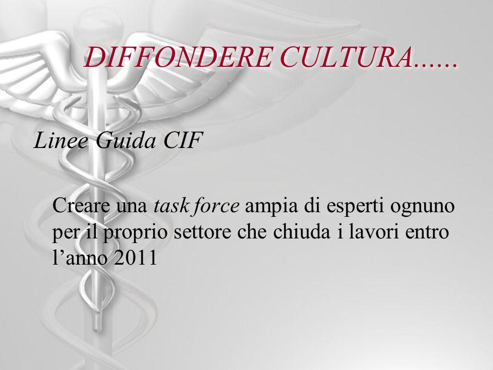 DIFFONDERE CULTURA...... Linee Guida CIF