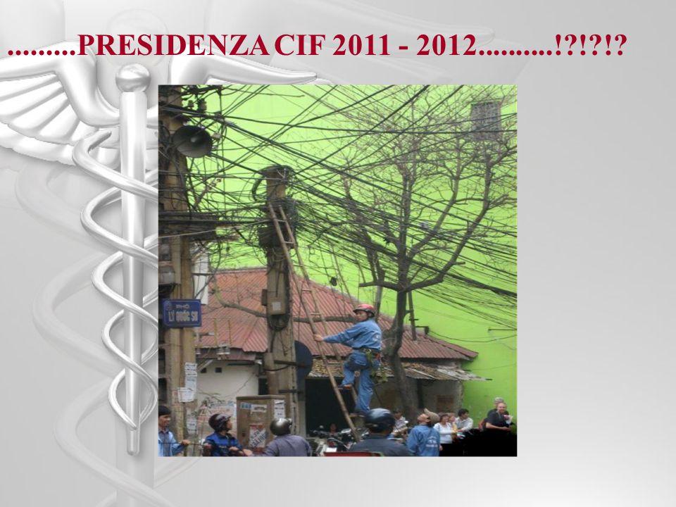 .........PRESIDENZA CIF 2011 - 2012..........! ! !