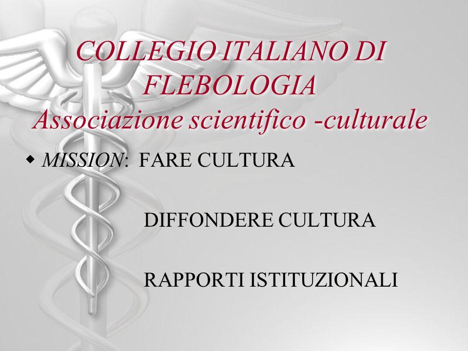 COLLEGIO ITALIANO DI FLEBOLOGIA Associazione scientifico -culturale