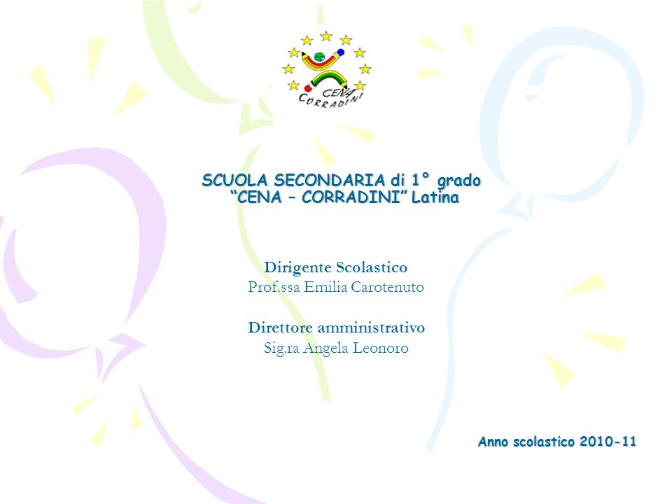 SCUOLA SECONDARIA di 1° grado CENA – CORRADINI Latina