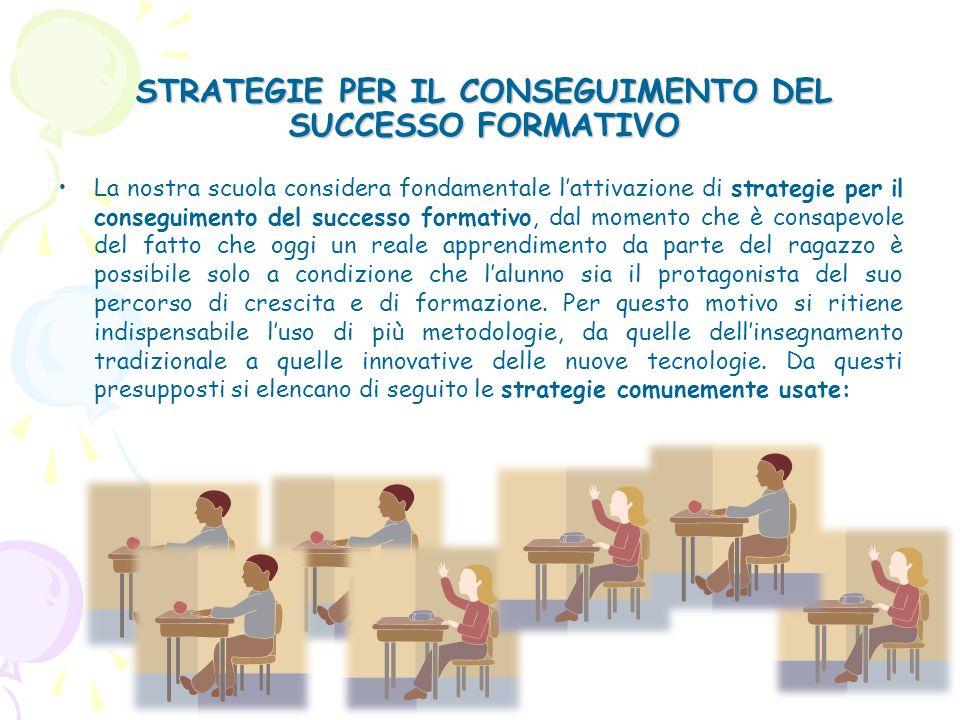 STRATEGIE PER IL CONSEGUIMENTO DEL SUCCESSO FORMATIVO