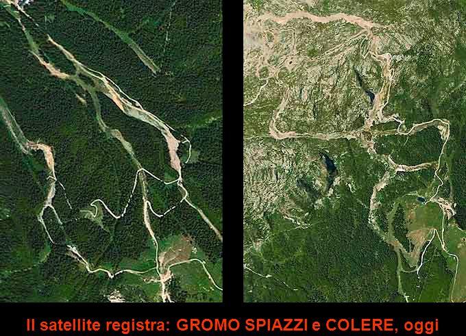Il satellite registra: GROMO SPIAZZI e COLERE, oggi