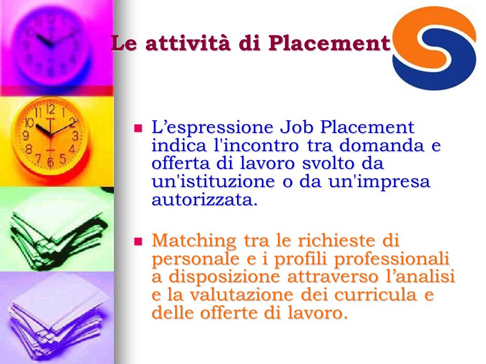 Le attività di Placement