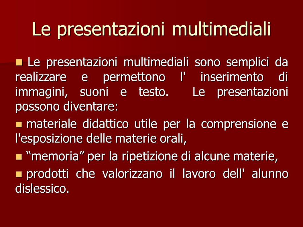 Le presentazioni multimediali