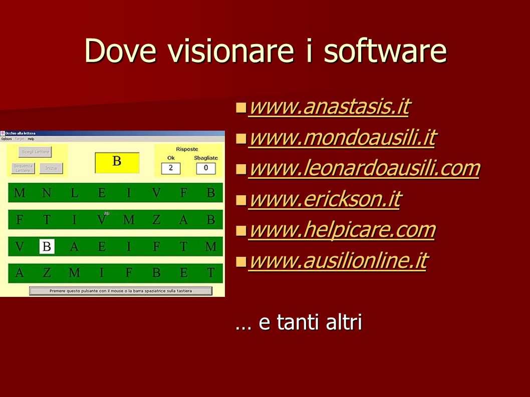 Dove visionare i software