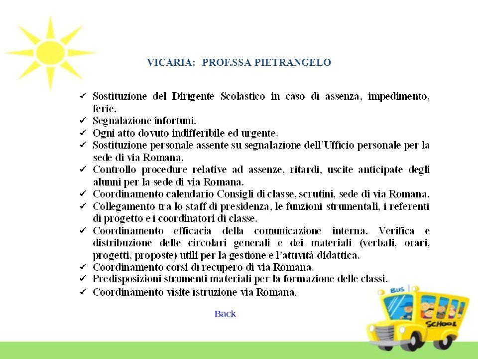 VICARIA: PROF.SSA PIETRANGELO