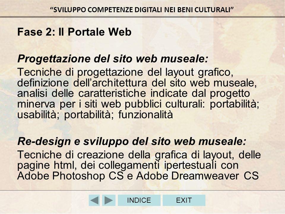 Fase 2: Il Portale Web Progettazione del sito web museale: