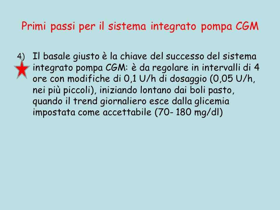 Primi passi per il sistema integrato pompa CGM