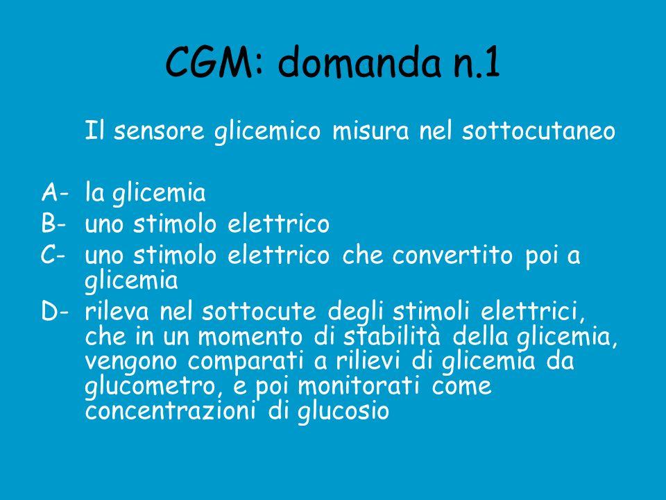 CGM: domanda n.1 Il sensore glicemico misura nel sottocutaneo