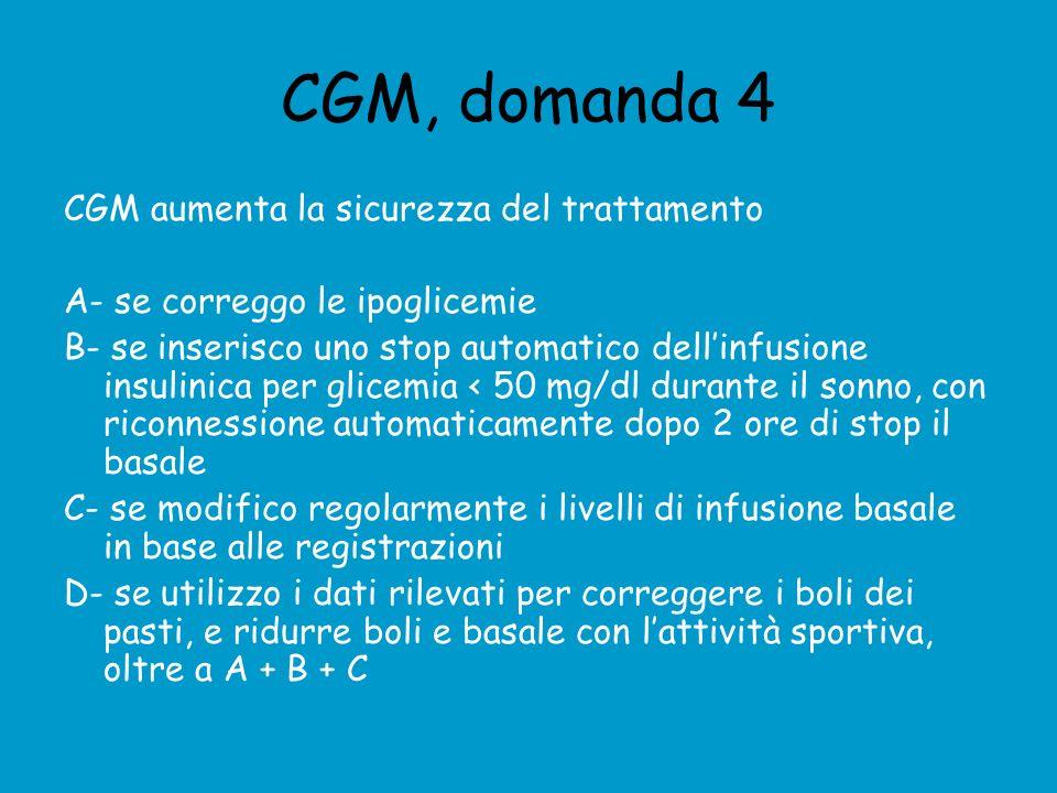 CGM, domanda 4 CGM aumenta la sicurezza del trattamento
