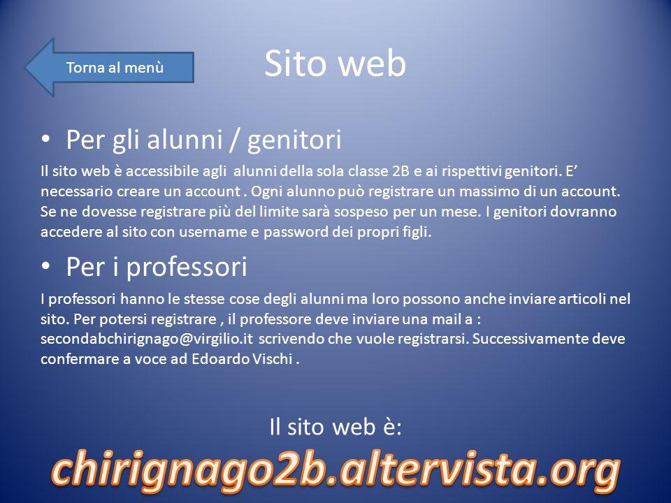 chirignago2b.altervista.org Sito web Per gli alunni / genitori