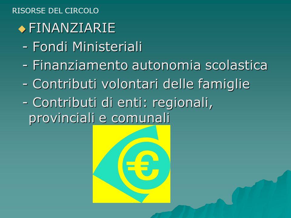 - Finanziamento autonomia scolastica
