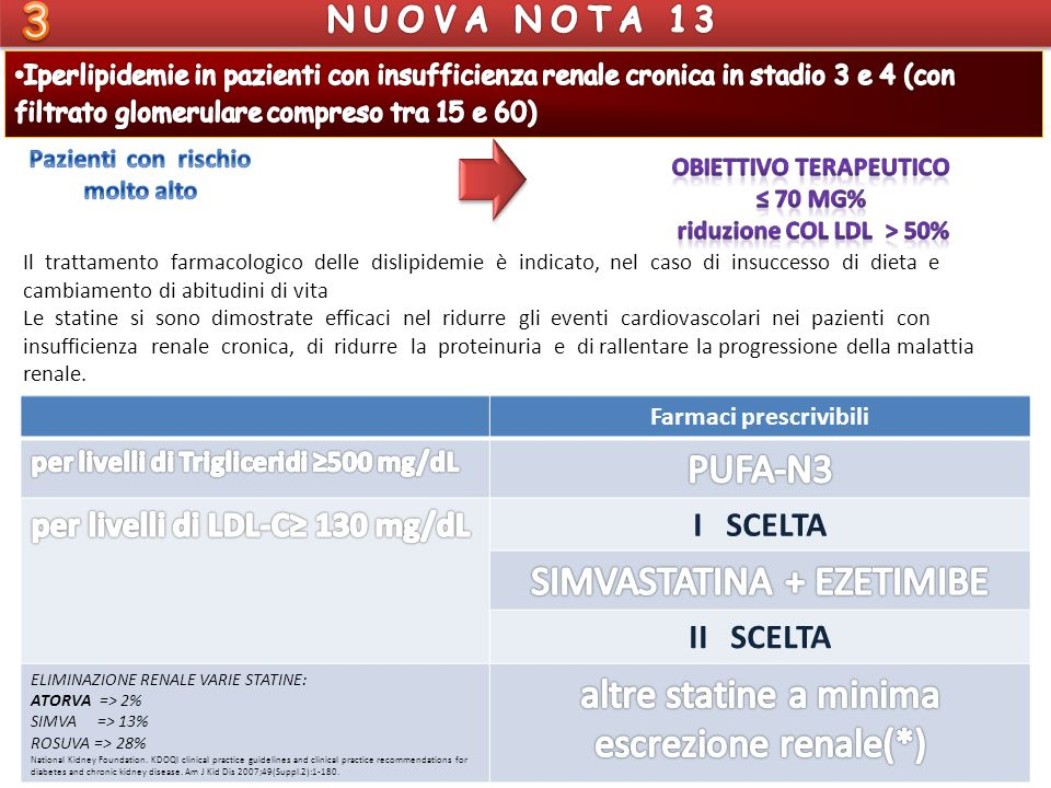 OBIETTIVO TERAPEUTICO riduzione Col ldl > 50% Farmaci prescrivibili