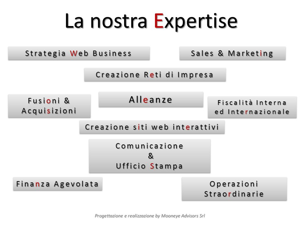 La nostra Expertise Alleanze Strategia Web Business Sales & Marketing