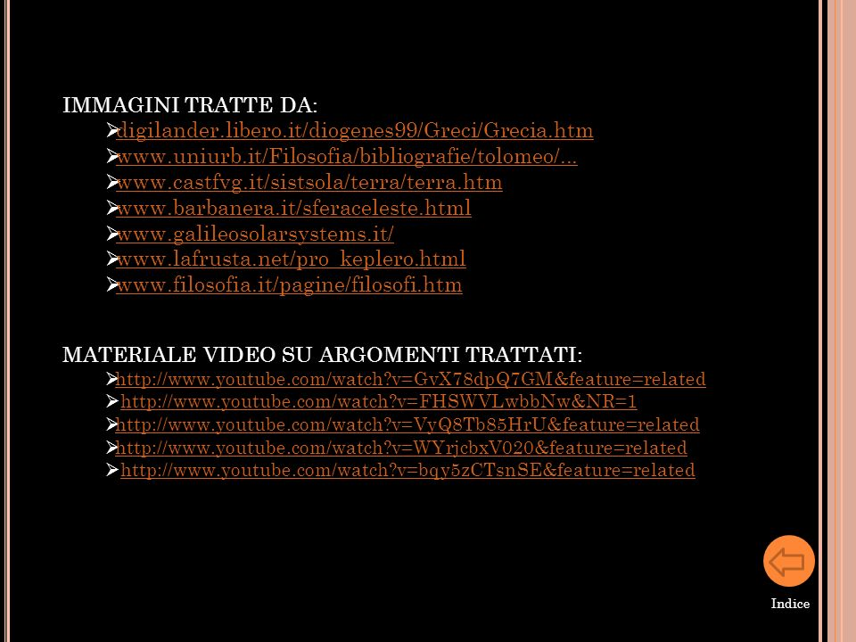 MATERIALE VIDEO SU ARGOMENTI TRATTATI: