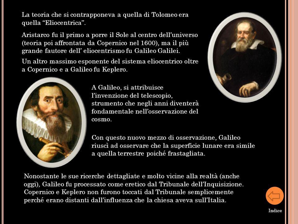 La teoria che si contrapponeva a quella di Tolomeo era quella Eliocentrica .