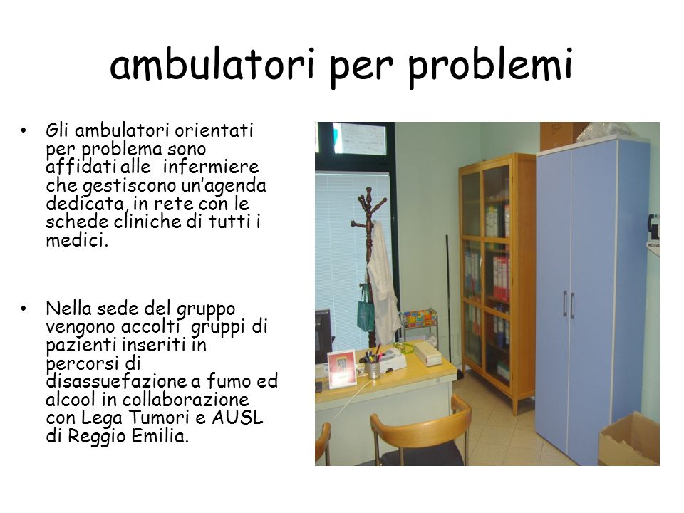ambulatori per problemi