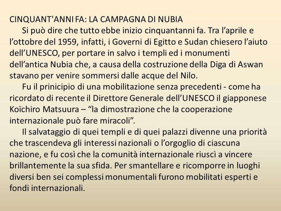 CINQUANT ANNI FA: LA CAMPAGNA DI NUBIA