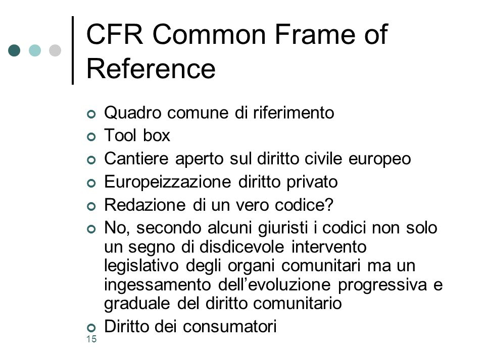 CFR Common Frame of Reference