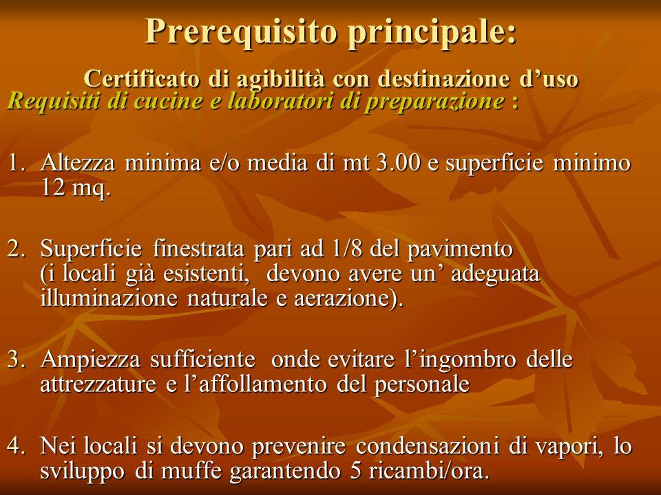 Prerequisito principale: Certificato di agibilità con destinazione d'uso