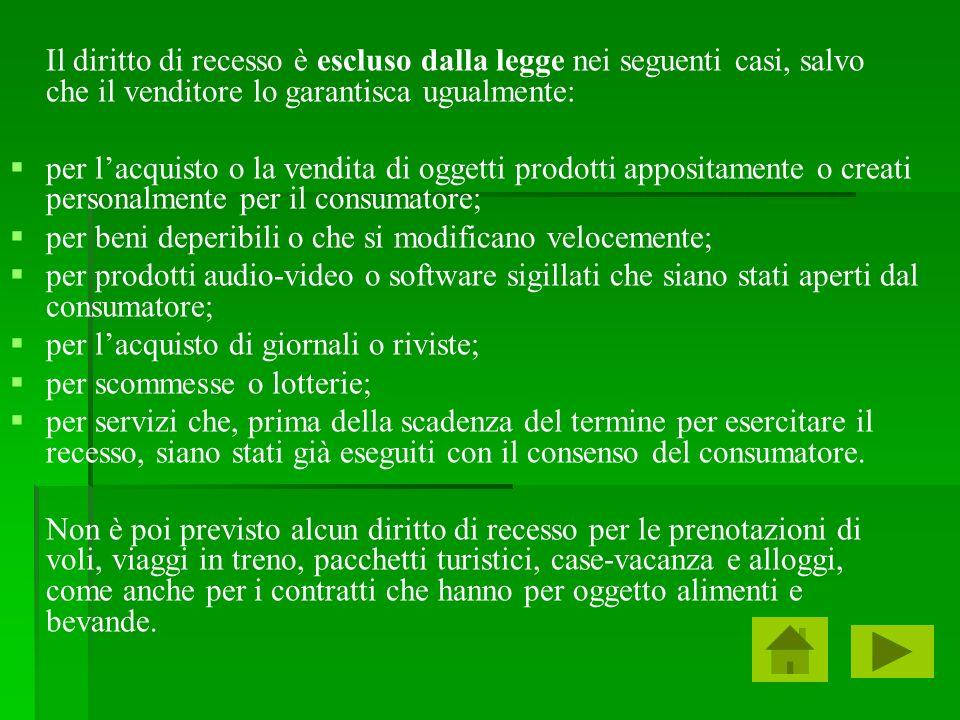 Il diritto di recesso la vendita diretta a domicilio - Diritto di recesso poltrone e sofa ...