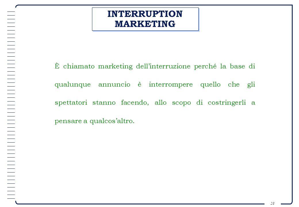 INTERRUPTION MARKETING
