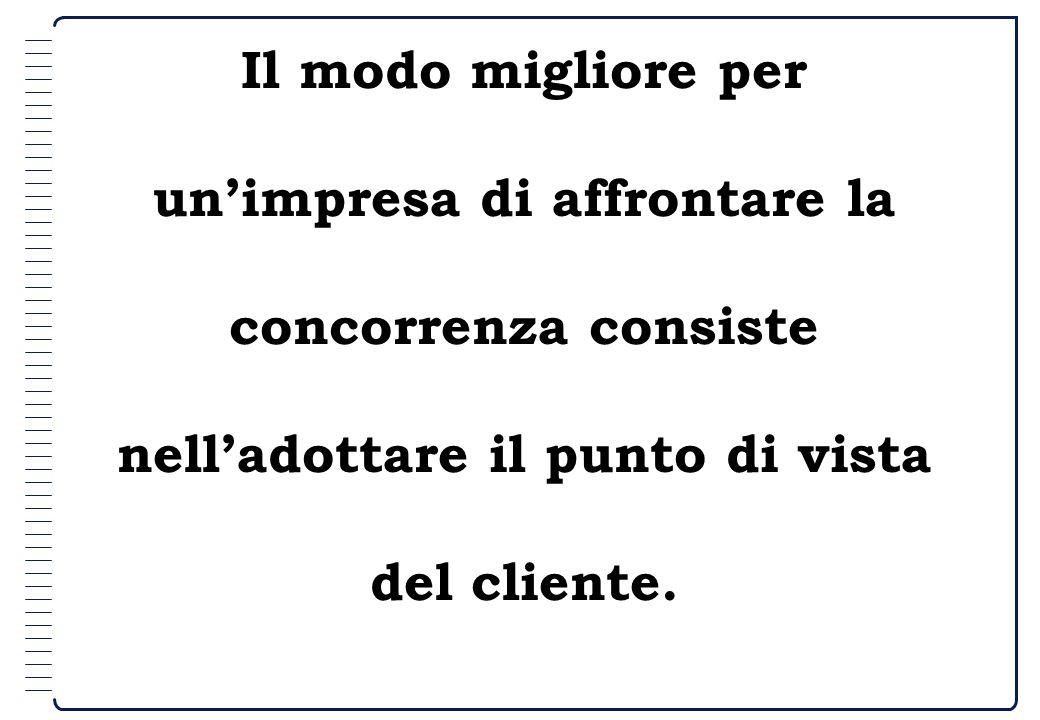 Il modo migliore per un'impresa di affrontare la concorrenza consiste nell'adottare il punto di vista del cliente.