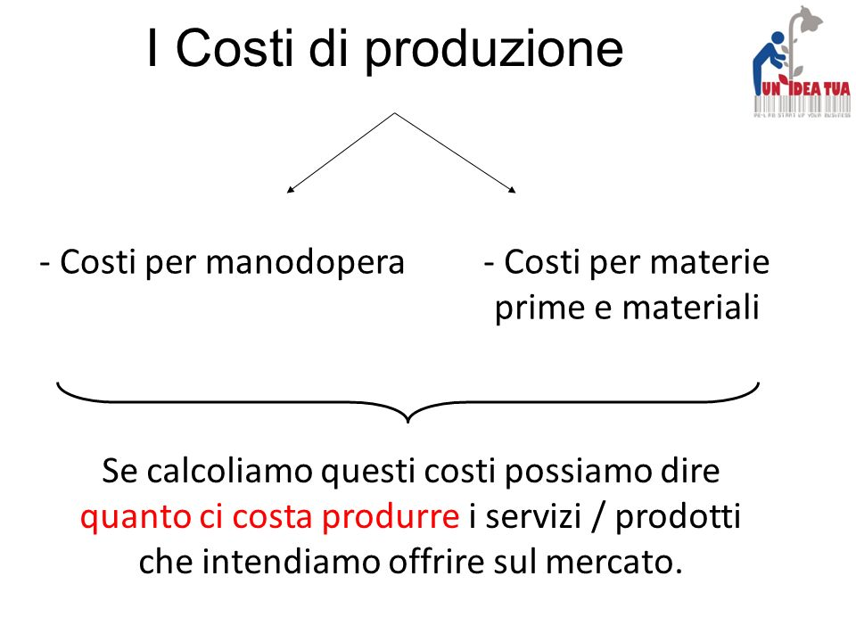 Costi per materie prime e materiali