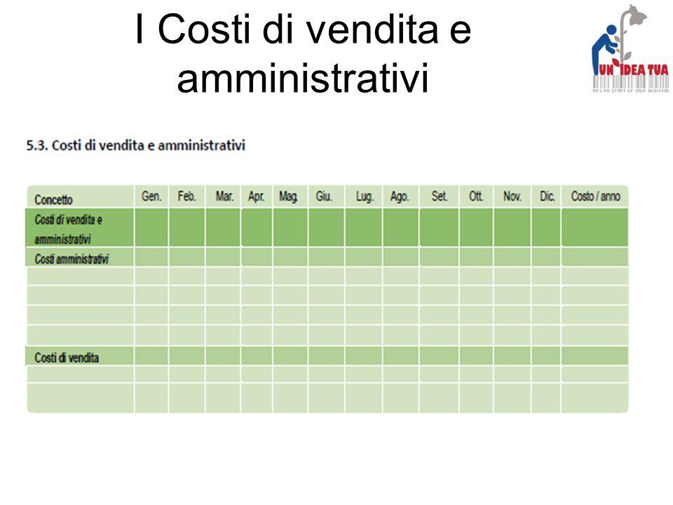 I Costi di vendita e amministrativi