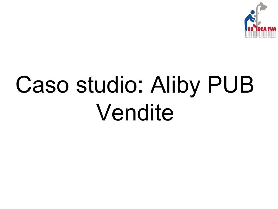 Caso studio: Aliby PUB Vendite