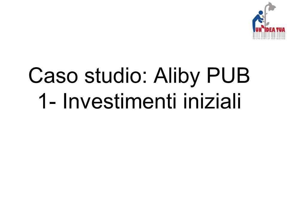 Caso studio: Aliby PUB 1- Investimenti iniziali