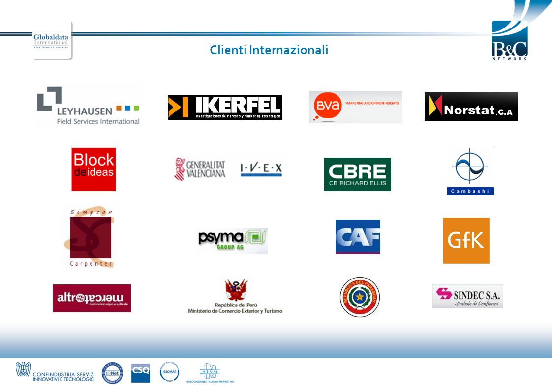 Clienti Internazionali