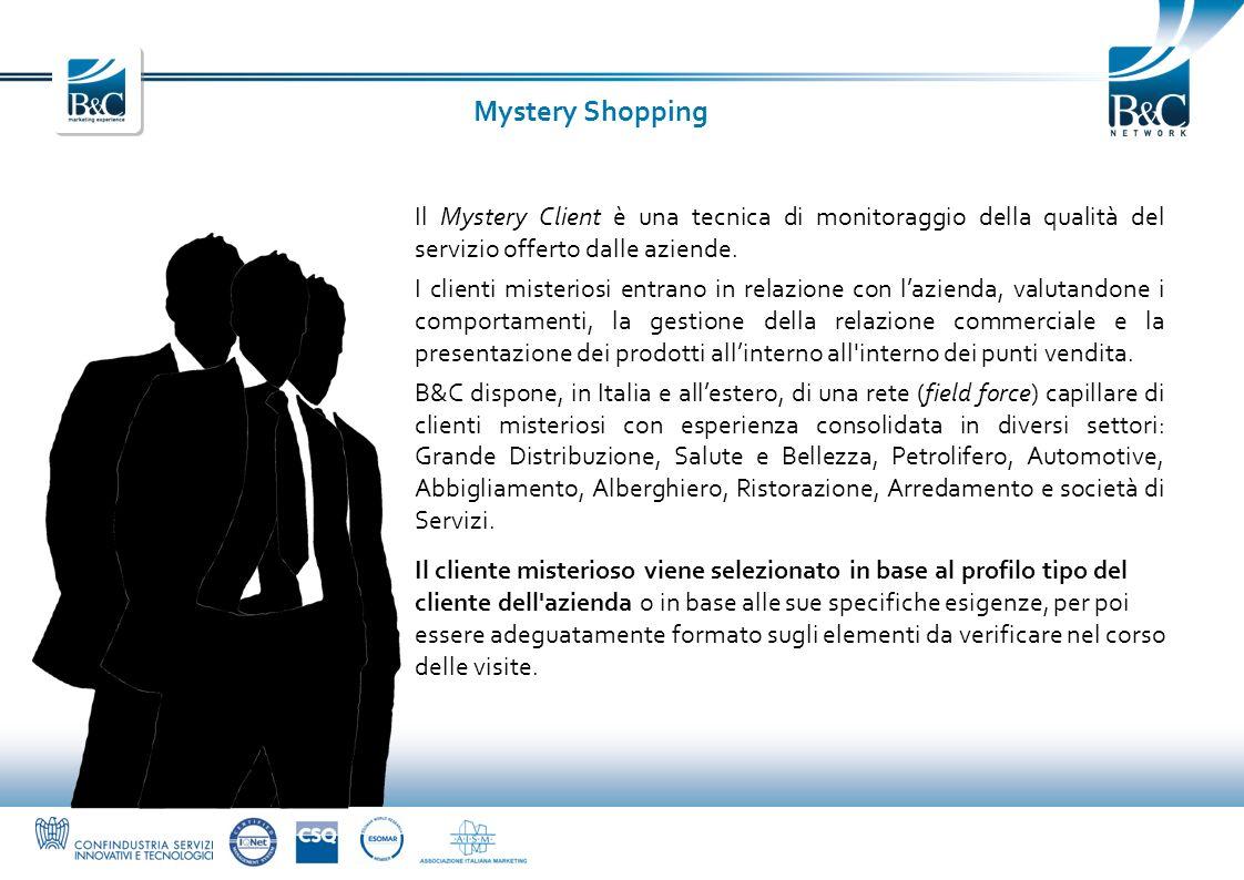 Mystery ShoppingIl Mystery Client è una tecnica di monitoraggio della qualità del servizio offerto dalle aziende.
