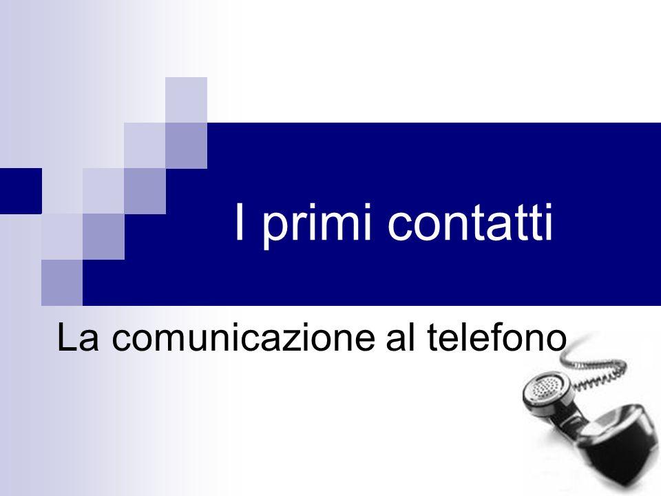 La comunicazione al telefono