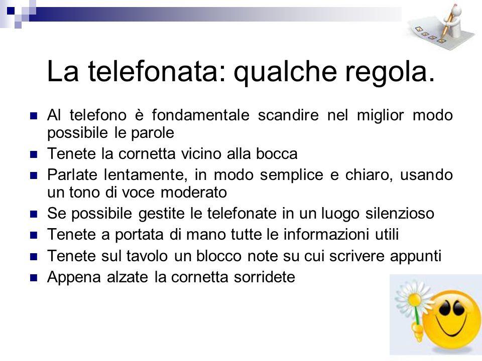 La telefonata: qualche regola.