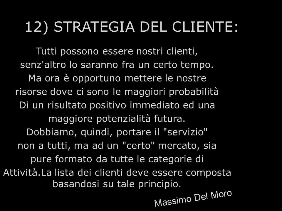 12) STRATEGIA DEL CLIENTE: