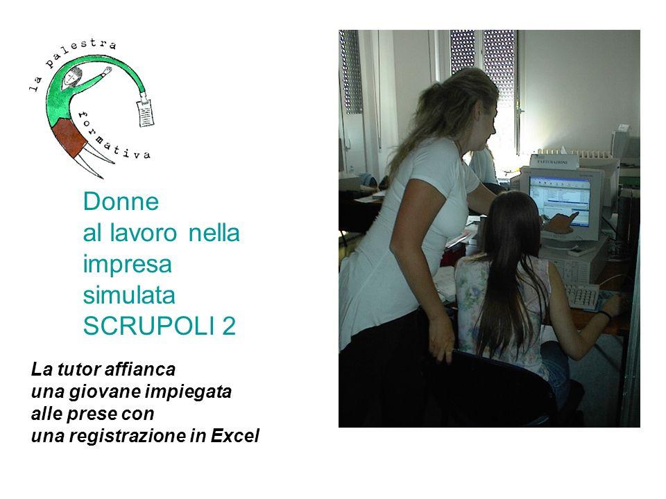 Donne al lavoro nella impresa simulata SCRUPOLI 2