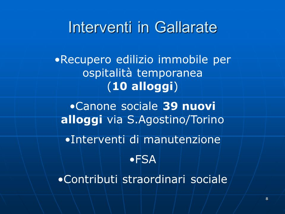 Interventi in Gallarate