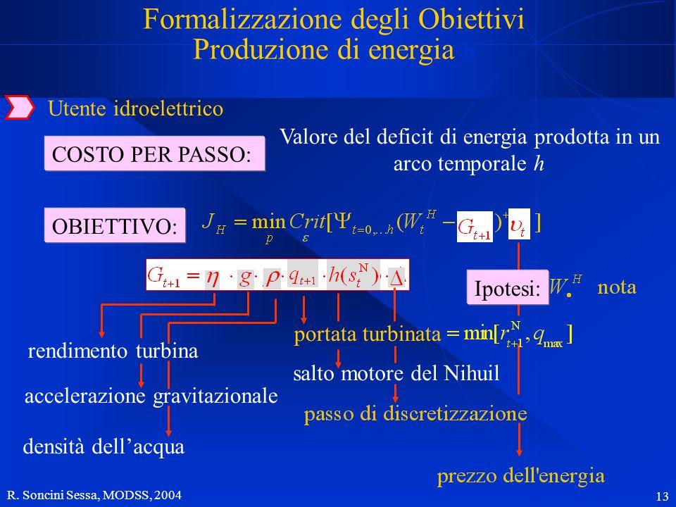 Formalizzazione degli Obiettivi Produzione di energia b