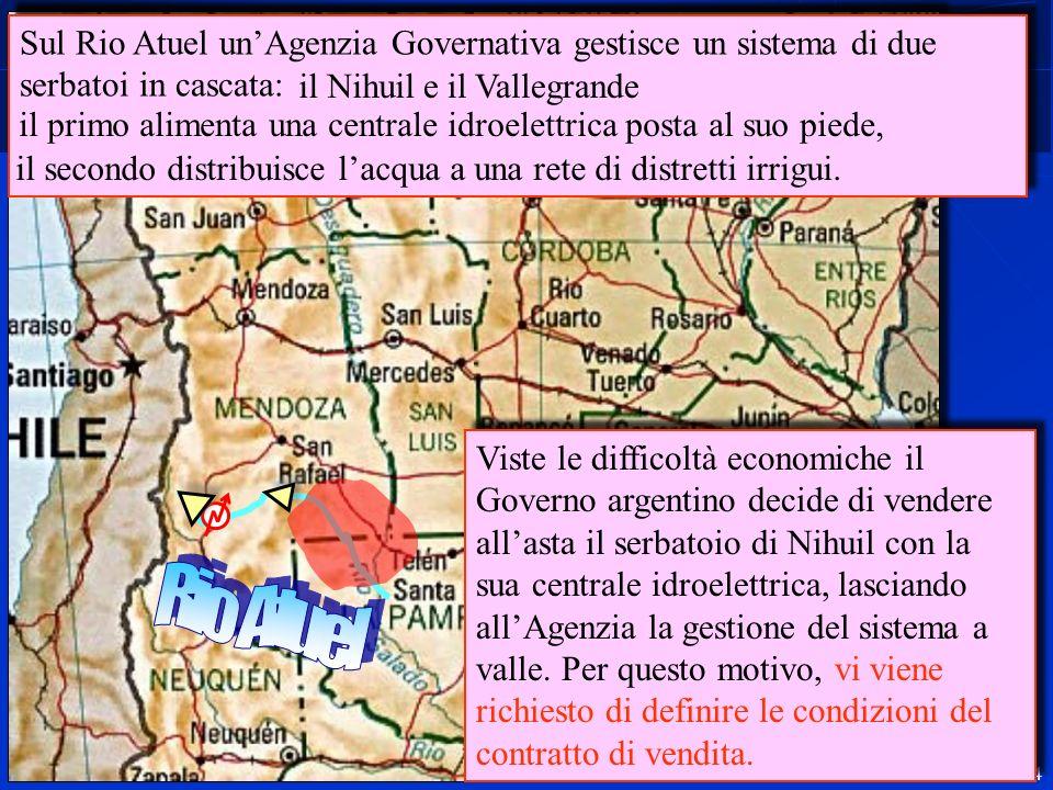 Sul Rio Atuel un'Agenzia Governativa gestisce un sistema di due serbatoi in cascata: