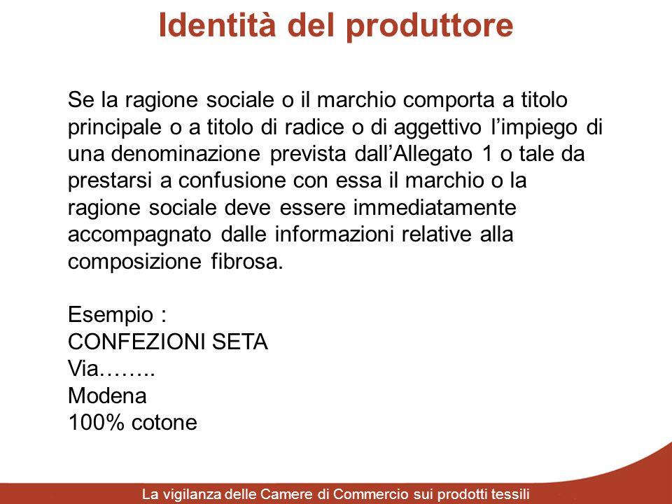 Identità del produttore