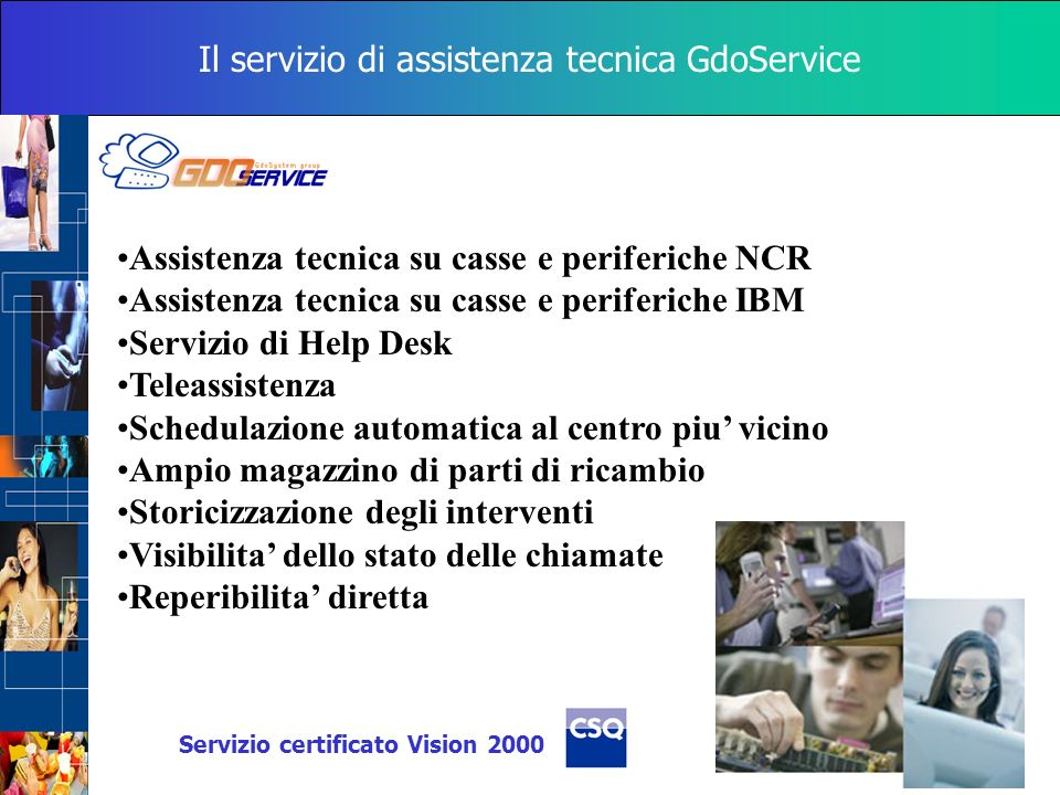 Il servizio di assistenza tecnica GdoService