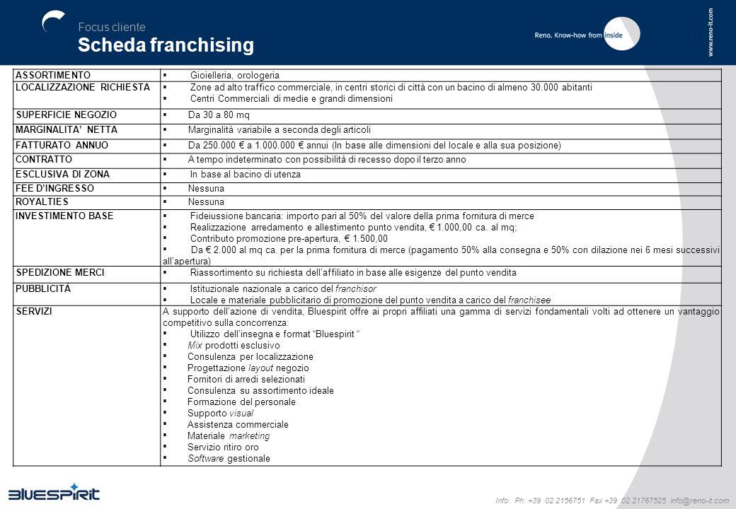 Scheda franchising Focus cliente 3 ASSORTIMENTO