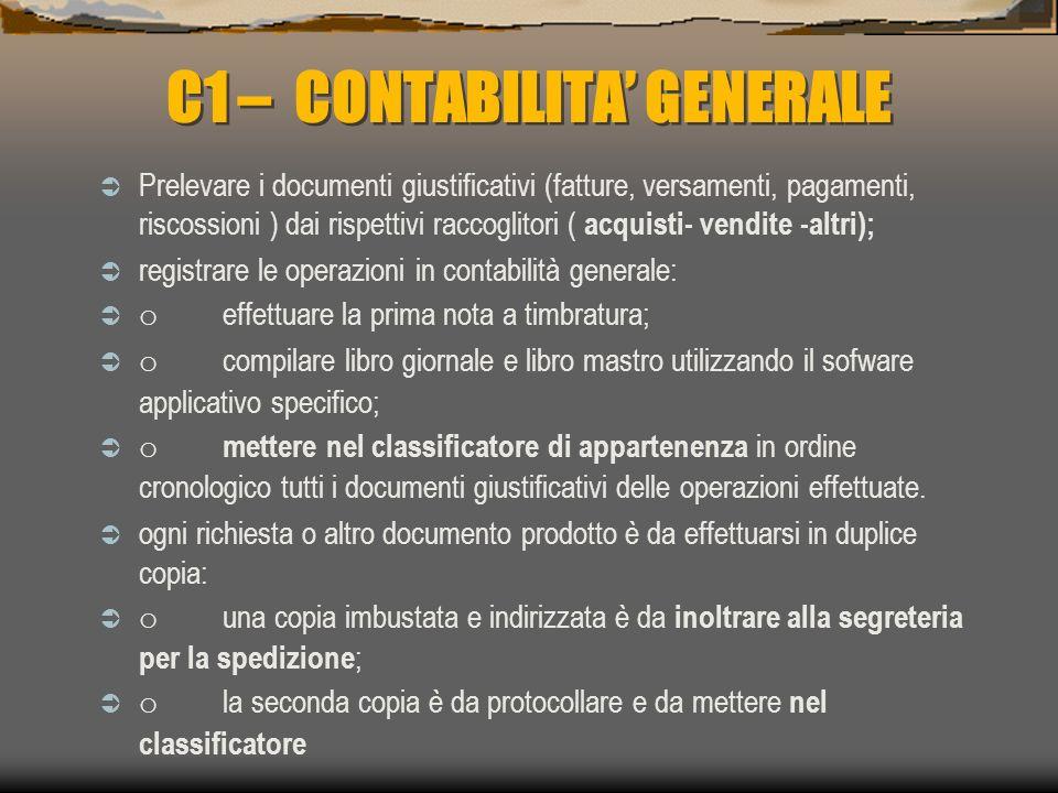 C1 – CONTABILITA' GENERALE