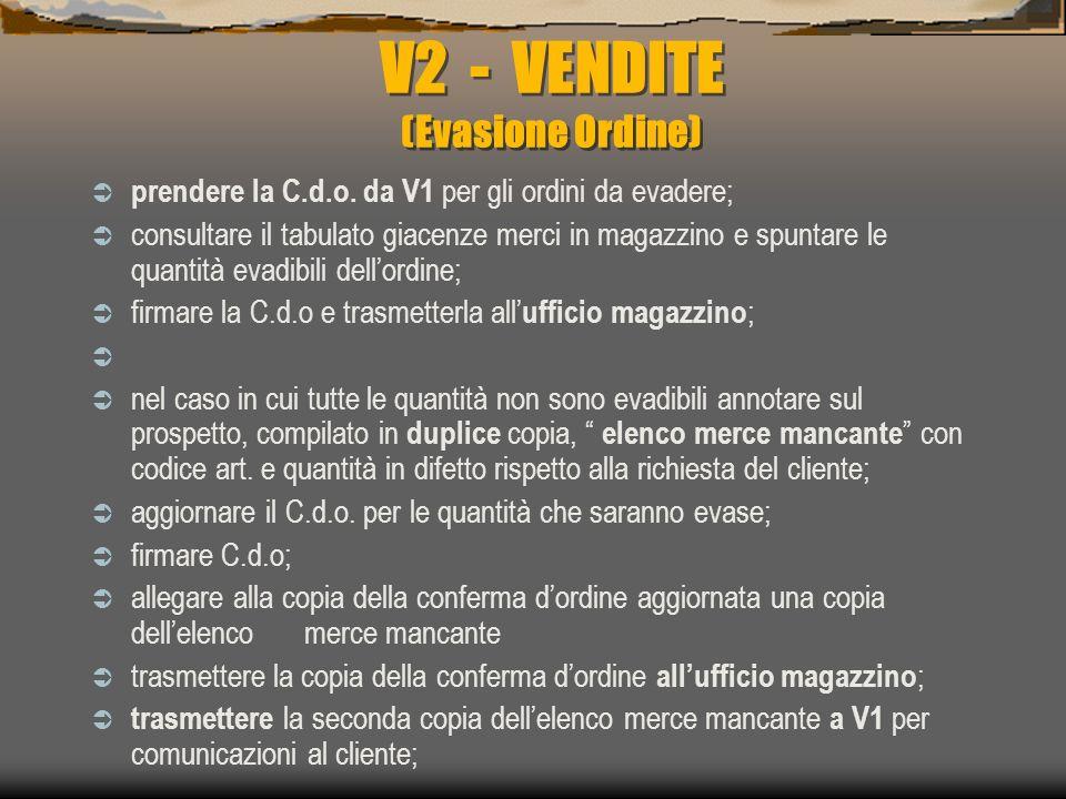 V2 - VENDITE (Evasione Ordine)