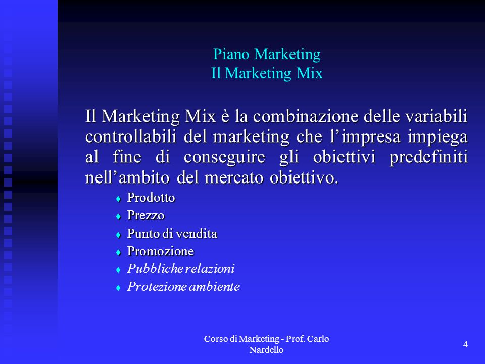 Piano Marketing Il Marketing Mix